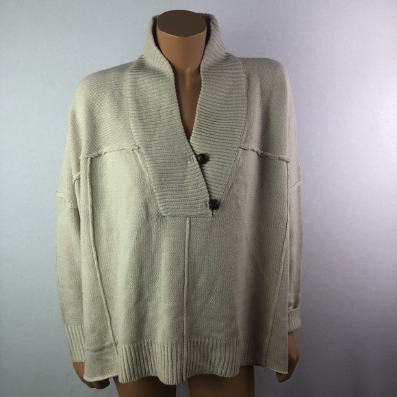 RD style oversized cream knitted sweater Sz S